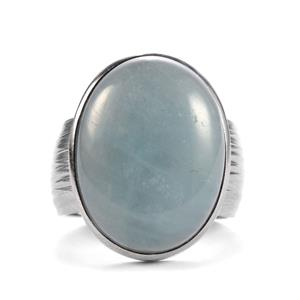 14.17ct Aquamarine Sterling Silver Sarah Bennett Ring