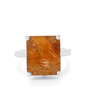 Bahia Rutilite Ring in Sterling Silver 10cts