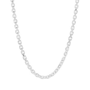 "24"" Sterling Silver Classico Slider Diamond Cut Cable Chain 4.98g"