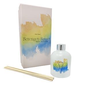 Gem Auras Serengeti Sunset Fragranced Reed Diffuser with Clear Quartz Gemstones ATGW 30cts