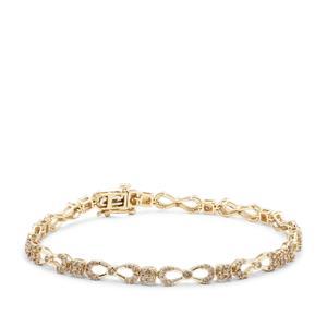 Argyle Diamond Bracelet in 9K Gold 2cts