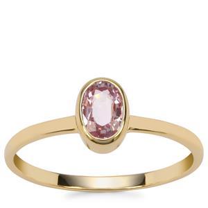 Sakaraha Pink Sapphire Ring in 9K Gold 0.50ct