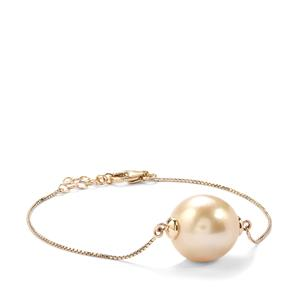 South Sea Cultured Pearl 10K Gold Bracelet (14mm x 13mm)