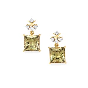 Csarite® Earrings with Diamond in 18k Gold 8.08cts