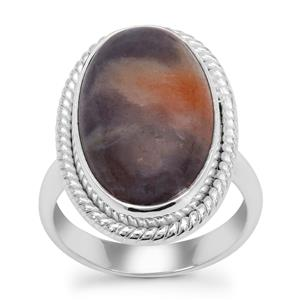 Iolite Sunstone Ring in Sterling Silver 12cts
