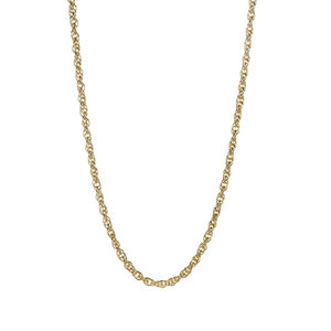 "18"" Gold Tone Sterling Silver Classico Prince Of Wales Chain 2.90g"