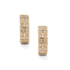 1ct Argyle Diamond 9K Gold Earrings