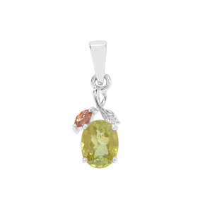 Sopa Andalusite & Ambilobe Sphene Sterling Silver Pendant ATGW 1.52cts