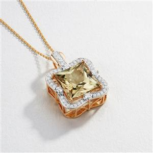 Csarite® Pendant with Diamond in 18K Gold 7.93cts