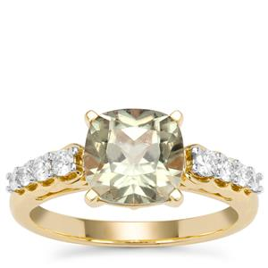 Csarite® Ring with Diamond in 18K Gold 2.64cts