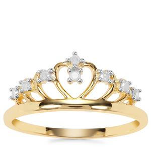 Diamond Ring in Gold Plated Sterling Silver 0.11ct