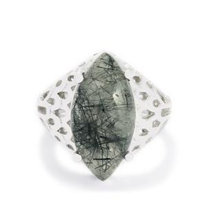 10ct Tourmalinated Quartz Sterling Silver Ring