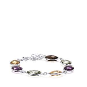 Kaleidoscope Gemstones Bracelet in Sterling Silver 35cts