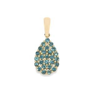 Indicolite Pendant in 10k Gold 0.55cts