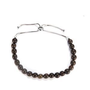 23ct Black Opal Sterling Silver Slider Bracelet