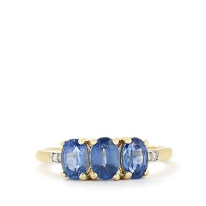 Sundar Kyanite & Diamond 10K Gold Ring ATGW 2.18cts
