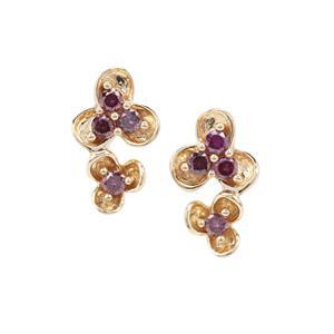 1/4ct Purple Diamond 9K Gold Earrings