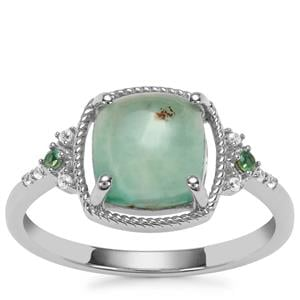 Aquaprase™, Alexandrite Ring with White Zircon in Sterling Silver 2.44cts