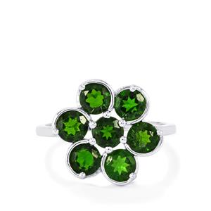Chrome Diopside Ring in Sterling Silver 2.87cts