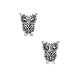 0.33ct Natural Marcasite Sterling Silver Jewels of Valais Earrings