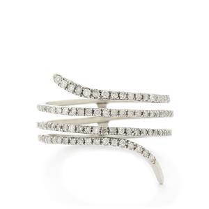 1/3ct Certified Diamond 9K White Gold Ring