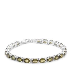 Moldavite Bracelet in Sterling Silver 13.30cts
