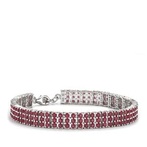 Malagasy Ruby Bracelet in Sterling Silver 15cts (F)
