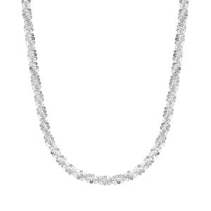 "24"" Sterling Silver Diamond Cut Margarita Slider Chain 7.54g"