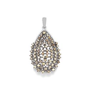 1ct Multi-Colour Diamond Sterling Silver Pendant
