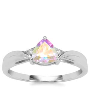 Mercury Mystic Topaz Ring with White Topaz in Sterling Silver 0.89cts