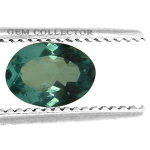 Cyan Apatite GC loose stone  1.10cts