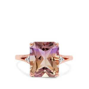 Anahi Ametrine Ring with White Zircon in 9K Rose Gold 4.96cts