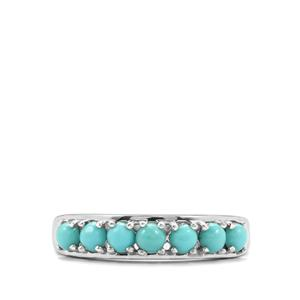 Sleeping Beauty Turquoise Ring in Sterling Silver 0.80cts
