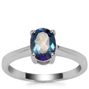 Mystic Blue Topaz Ring in Sterling Silver 1.43cts