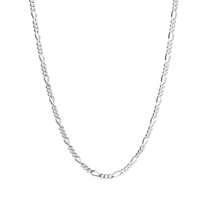 """24"""" Sterling Silver Couture Figaro Chain 4.29g"""