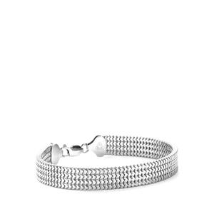 Sterling Silver Tempo  4 Strand Square Box Bracelet 11.60g