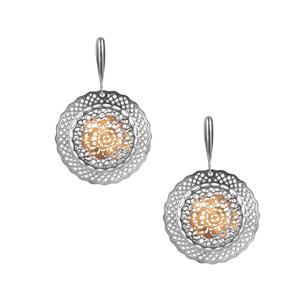 Bayeux Earrings in Two Tone Sterling Silver 6.30g