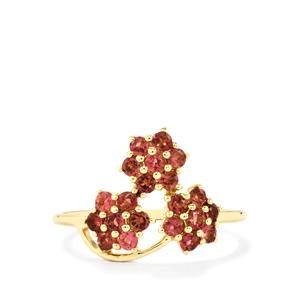 Pink Tourmaline Ring in 9K Gold 0.69ct