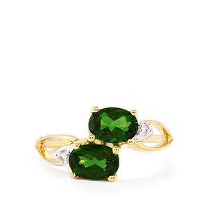Chrome Diopside Ring  in 10k Gold 1.64cts