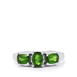 1.64ct Chrome Diopside Sterling Silver Ring