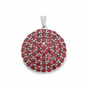 Malagasy Ruby Pendant in Sterling Silver 10.21cts (F)