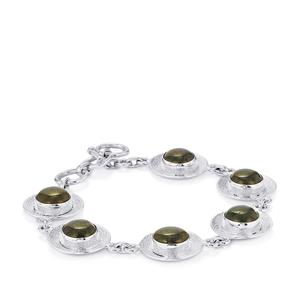 Andamooka Opal Bracelet in Sterling Silver 15.60cts