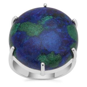 Azure Malachite Ring in Sterling Silver 19.58cts
