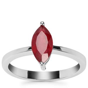 Thai Ruby Ring in Sterling Silver 1ct (F)