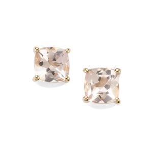 Alto Ligonha Morganite Earrings in 9K Gold 0.97cts