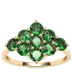 Chrome Tourmaline Ring in 9K Gold 1.75cts