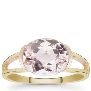 Kunzite Ring in 9K Gold 3.35cts