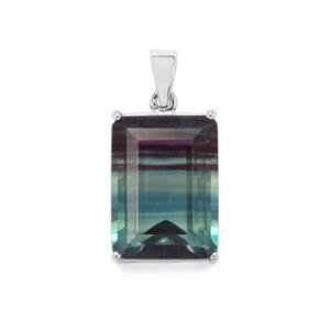 Zebra Fluorite Pendant in Sterling Silver 24.84cts