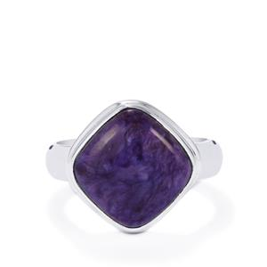 6.49ct Charoite Sterling Silver Aryonna Ring
