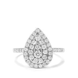 3/4ct Diamond 9K White Gold Tomas Rae Ring